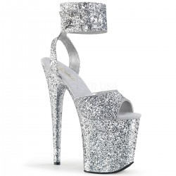 High Platforms Sandals Devious FLAMINGO-891LG Silver