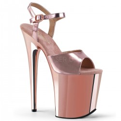 High Platforms Sandals Pleaser FLAMINGO-809 Pink Gold