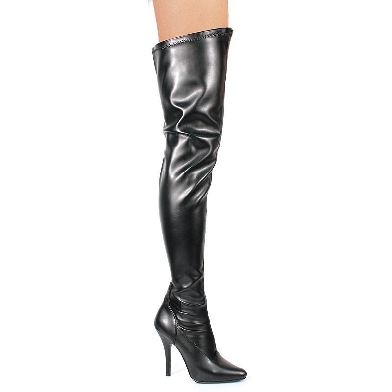 high heels thigh high boots pleaser 3000 black
