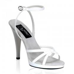 Sandales Fabulicious FLAIR-436 Blanc vernis