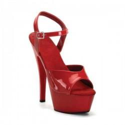 Sandales Plateformes Pleaser JULIET-209 Rouge vernis