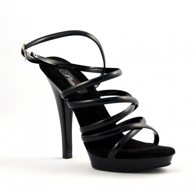 sandales talons hauts fabulicious lip 106 noir. Black Bedroom Furniture Sets. Home Design Ideas