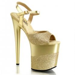 High Platforms Sandals Pleaser FLAMINGO-809-2G Gold