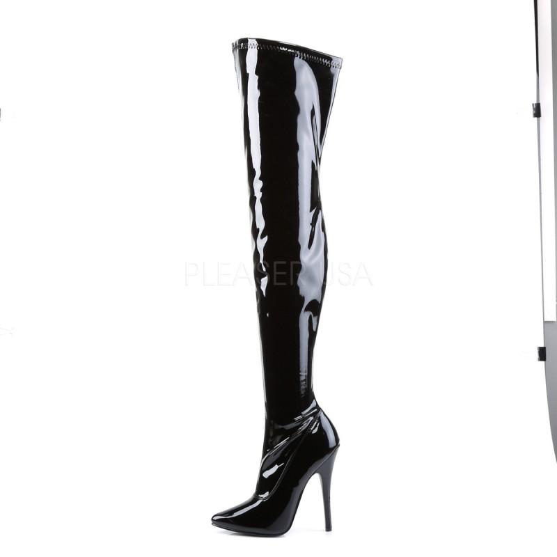 high heels thigh high boots pleaser domina 3000 black