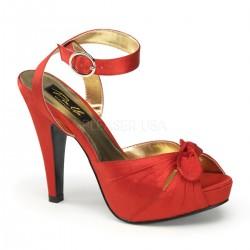 Zapatos Plataformas Bordello BETTIE-04 Rojo