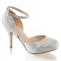 Zapatos Tacones Altos Pleaser COVET-03 Plata