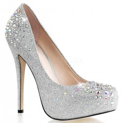 Zapatos Tacones Altos Pleaser DESTINY-06 Plata