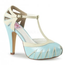Plateau Scarpe Pin Up Couture BETTIE-25 Blu