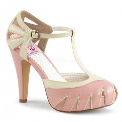 Plateau Scarpe Pin Up Couture BETTIE-25 Rosa