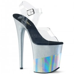 High Platforms Sandals Devious FLAMINGO-808G Silver