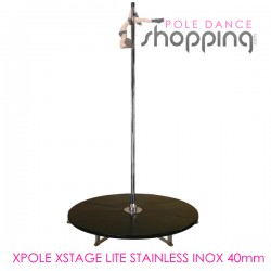 Podium de Pole Dance Xpole Xstage Lite Stainless Inox 40mm