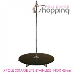 Podium de Pole Dance Xpole Xstage Lite Stainless Inox 45mm