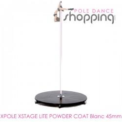 Barra Podio de Pole Dance Xpole Xstage Powder Coat Blanco 45mm