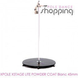 Podium de Pole Dance Xpole Xstage Lite Powder Coat Blanc 45mm