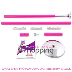 Barra de Pole Dance Xpole Xpert Pro Powder Coat Rosado 45mm X-LOCK