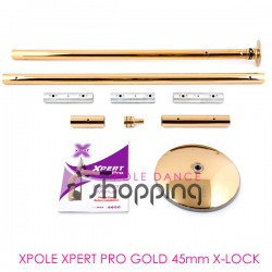 Barre de Pole Dance Xpole Xpert Pro Gold 45mm X-LOCK