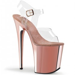 High Platforms Sandals Pleaser FLAMINGO-808 Pink Gold