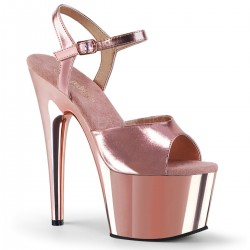 High Platforms Sandals Pleaser ADORE-709 Pink Gold