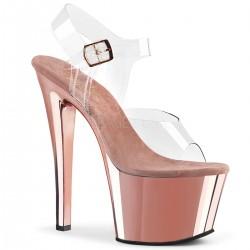 High Platforms Sandals Pleaser SKY-308 Pink Gold