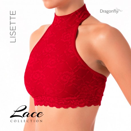 Top Lisette Dentelle Dragon Fly Rojo