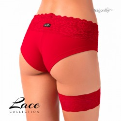 Garter - Lace Collection Dragon Fly Rosso