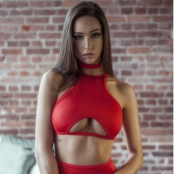 Top 007 Vertical Fit Rouge