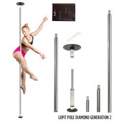 Barre de Pole Dance Lupit Pole Diamond Chrome 42mm - Generation 2