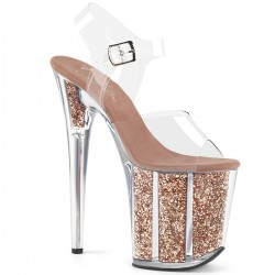 High Platforms Sandals Devious FLAMINGO-808G Rose Gold