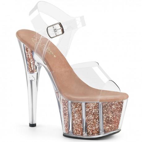 High Platforms Sandals Pleaser ADORE-708G Rose Gold