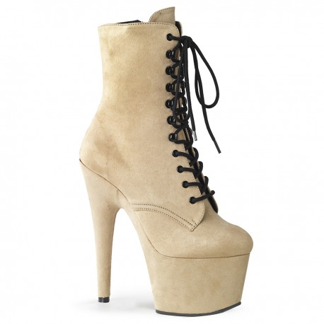 High Platforms Ankle Boots Pleaser ADORE-1020FS Beige