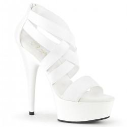 Sandales Plateformes Pleaser DELIGHT-669 Blanc