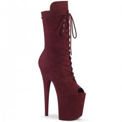Bottines Plateformes Hautes Pleaser FLAMINGO-1051FS Bordeaux