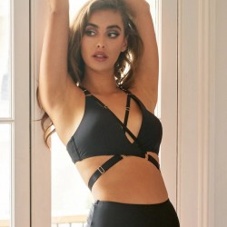 Top Amber Luna Polewear Negro