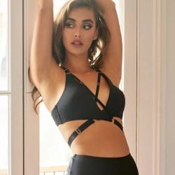 Top Amber Luna Polewear Nero