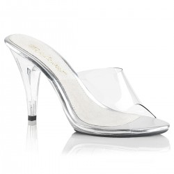 Heels Mules Fabulicious CARESS-401 Clear