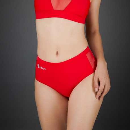 Short Mesh Spizy Active Wear Rosso