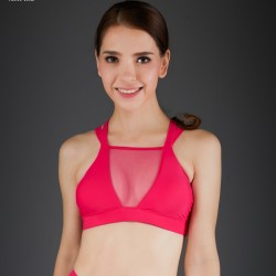 Top Mesh Spizy Active Wear Rosado