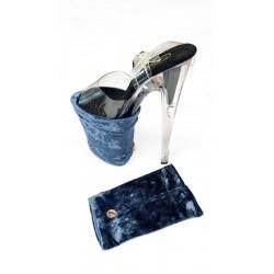 Shoe Protector Velvet Blue