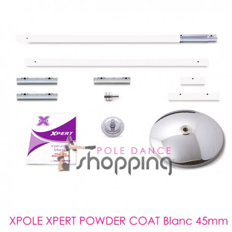 Barre de Pole Dance Xpole Xpert Powder Coat White 45mm