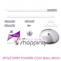 Barre de Pole Dance Xpole Xpert Powder Coat Bianca 40mm