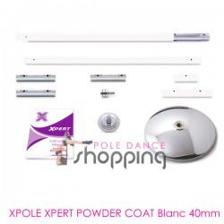 Barre de Pole Dance Xpole Xpert Powder Coat White 40mm