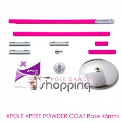 Barra de Pole Dance Xpole Xpert Powder Coat Rosa 45mm