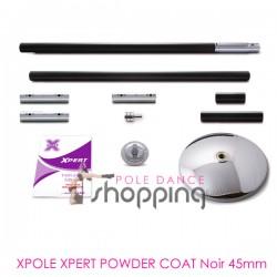 Barra de Pole Dance Xpole Xpert Powder Coat Negro 45mm