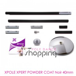 Barre de Pole Dance Xpole Xpert Powder Coat Noir 40mm