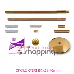 Barre de Pole Dance Xpole Xpert Brass 40mm