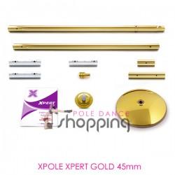 Barre de Pole Dance Xpole Xpert Gold 45mm