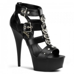 Platforms Sandals Pleaser DELIGHT-658 Black matte