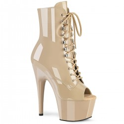 High Platforms Ankle Boots Pleaser ADORE-1021 Nude patent