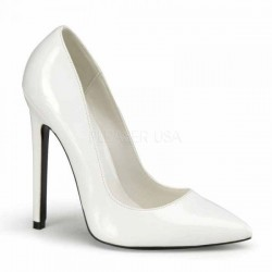 Alto Scarpe Pleaser SEXY-20 Bianco vernice