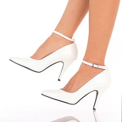 Zapatos Tacones Altos Pleaser VANITY-431 Blanco barniz